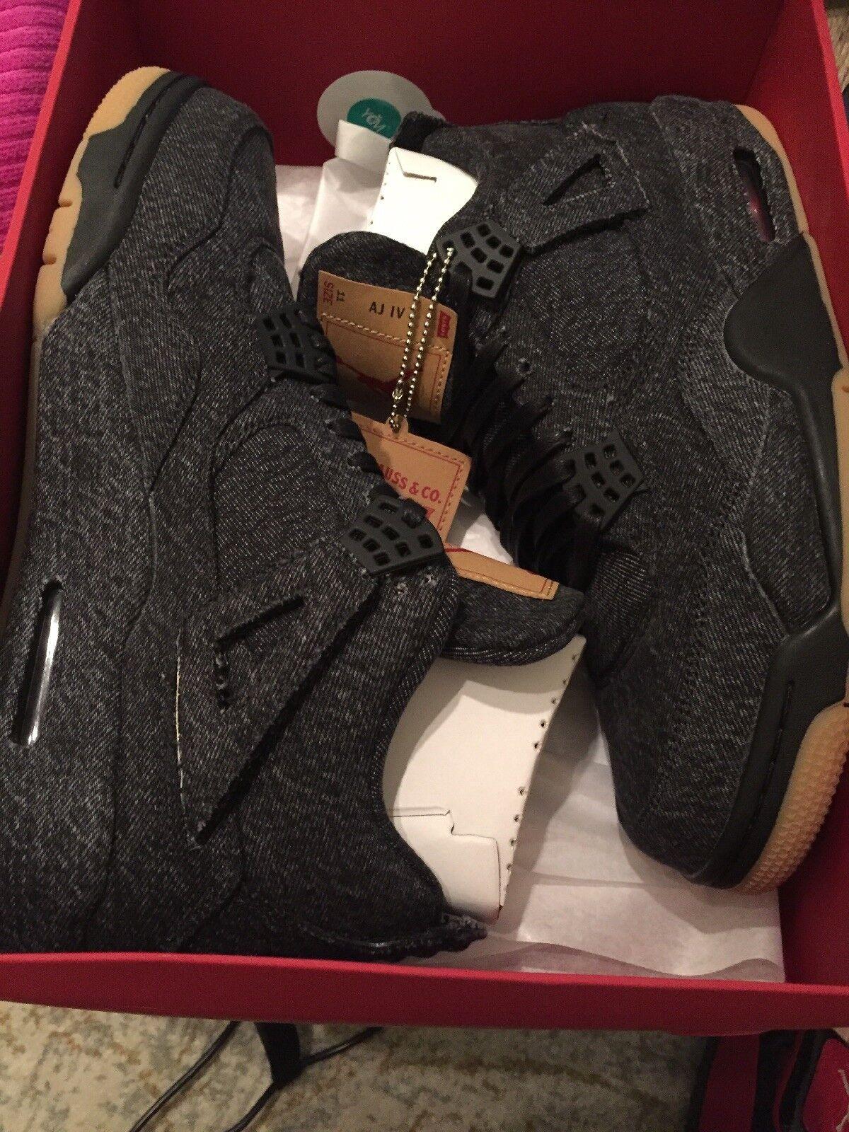 finest selection 2ffac 15b55 Nike Air Jordan 4 IV IV IV Retro NRG Levi s Black Denim Sz 11 DS 698cc5