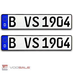 2 Autokennzeichen für alle Marken geeiget Top Qualität in der Größe 520x110mm