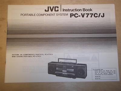 Service Manual Instructions for JVC Pc-3