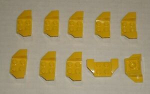 LEGO-NEW-2x4-Yellow-Wheel-Arch-10x-6211854-6096950-4163938-Brick-41854