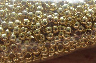 100 Stück Quetschperlen, Crimps Ii, Gold, 3mm