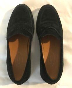 Talbots-black-loafer-leather-upper-size-6b