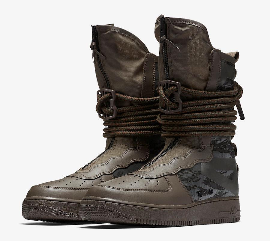 Nike SF Marrón AF1 aa1128 203 ridgerock Marrón SF / Sequoia Verde - campo especial fuerza aérea 3d0ecb