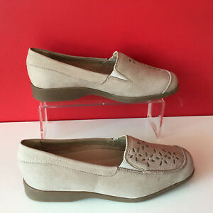 E plana zapatos de K beige cuero Soft de Bnwob tamaño punta 4 37 Clarks Comfort Wide 4q7agUgT
