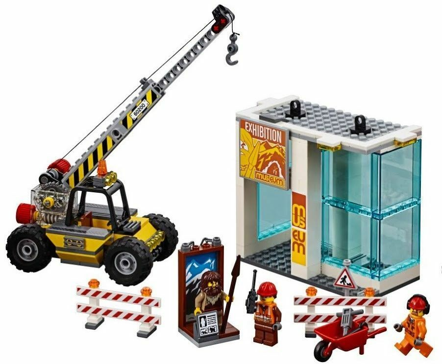 LEGO City Museum Construction Site Crane 3 Minifigures Train Town Scenery 60197