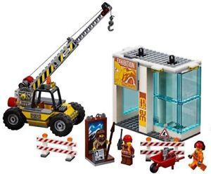 Lego-City-Museum-Site-De-Construction-grue-3-Minifigures-Train-Ville-Paysage-60197