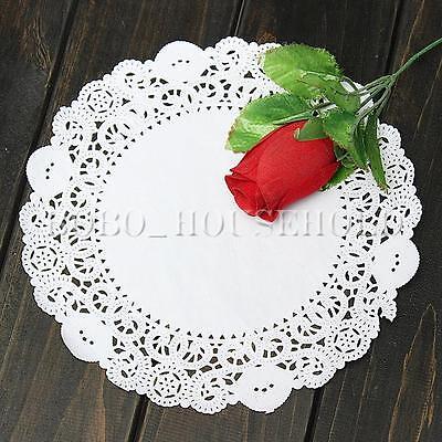 "50pcs 7.5""/ 19cm White Paper Doilies Wedding Party Cupcake Cake Lace Round"