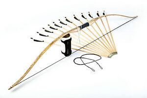"""Armguard 12 Arrows Flagella Dei Set:71"""" Reflexed Flatbow Longbow Spare String"""