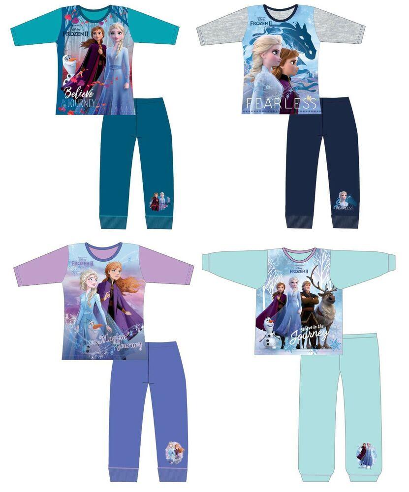 Filles enfants officiel sous licence disney divers personnage à manches longues pyjamas pjs