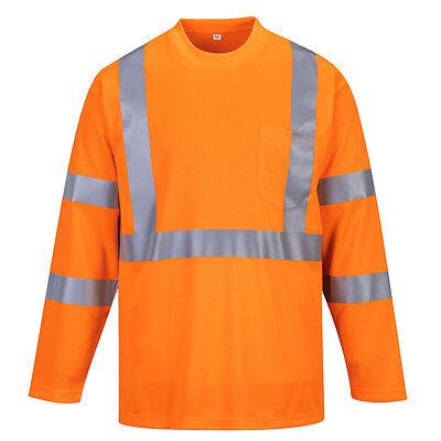 Portwest Hommes Hi-Vis Polo à manches courtes Go//Rt Orange Divers Taille RT22