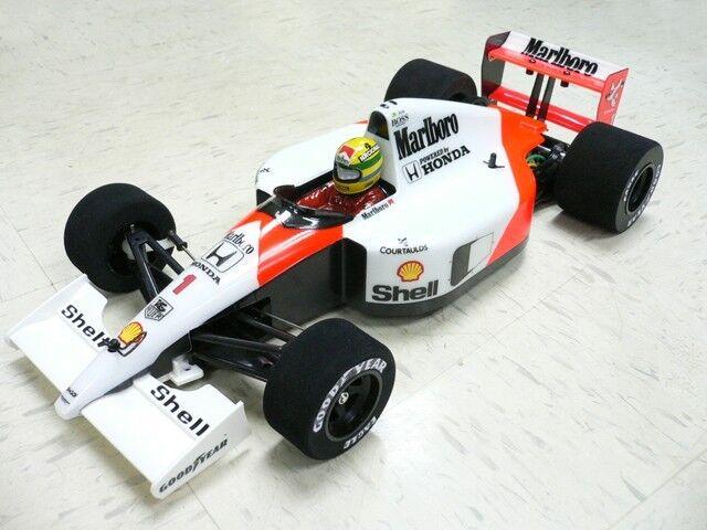 1 10  RTR Prepainted 1991 F1 Mclaren MP4 6 Ayrton Senna RC auto corpo Tamiya F104w  vieni a scegliere il tuo stile sportivo