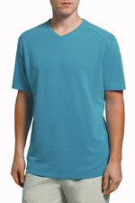 TOMMY BAHAMA New Pebble Shore S/S V-Neck T-Shirt in Blue Water Sz.Large NWT $78