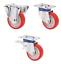 Schwerlastrollen-Polyurethanbereifung-Platte-100-125-150-200-Lenkrolle-Rolle Indexbild 1