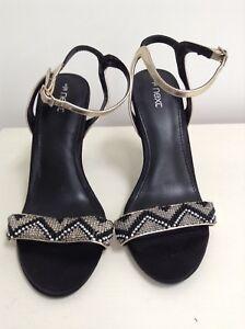 Size Ladies Black From Next 5 gold Heels qvOXq
