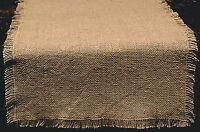 Primitive 100% Soft Cotton Burlap Table Runner 13 X 36