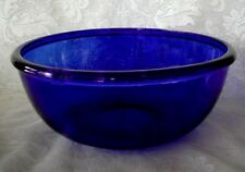 Beautiful Extra Large Cobalt Blue Glass Serving Bowl - Made in France - NEW