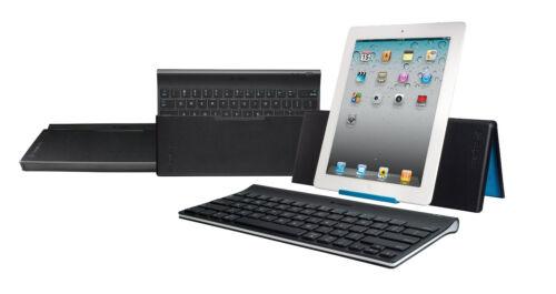 New Logitech Tablet Wireless Keyboard  iPad 1th 2 3rd 4th /& mini w// Stand Cover