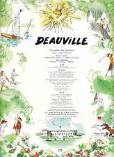 Publicité ancienne Deauville Pierre Pagès 1953 issue de magazine