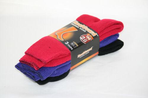 Ladies THERMAL SOCKS UK 4-7 *3 PACK* Warm//Winter//HeatGuard SK139 3 COLOURS