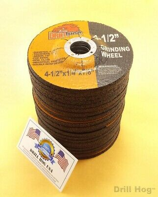 "Drill Hog® 4-1//2 Grinding Wheel Fits Dewalt Angle Grinder 4.5/""x1//4x7//8 Pack of 2"