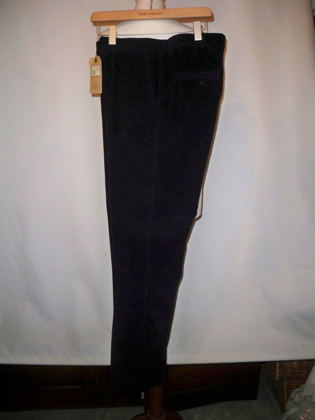 CAVI di Cotone Blu Scuro Pantaloni W 34L