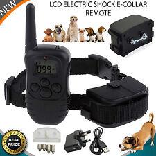 Collar de choque eléctrico perro LCD para 1 Control Remoto ADIESTRAMIENTO DE PERROS Anti-Ladrar UK