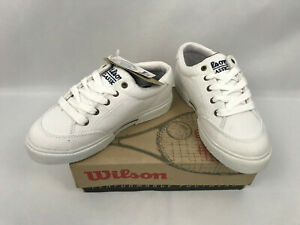 8492894d97630 Vintage Wilson Classic Canvas Jr. Youth Kids Shoes White/Navy Size 2 ...