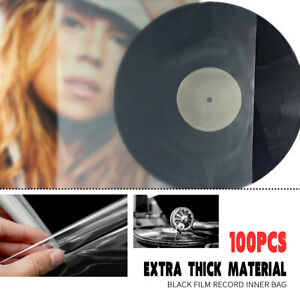 AU-100Pcs-Plastic-Clear-Sleeves-Record-Outer-Cover-for-12-039-039-LP-LD-Vinyl-Music