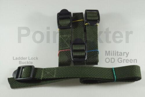 "4-3//4 Inch Nylon Webbing 36/"" Military OD Green Lashing Straps Compression LL"