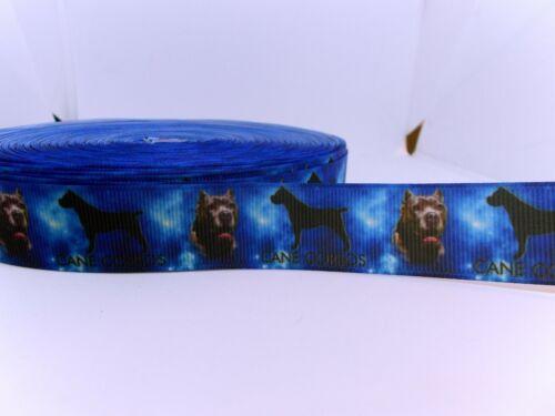 Grosgrain Cane Corso perros Dogs cenefa cenefas 22 mm aplicación 1 M