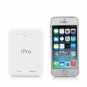 Ipro IP1042 10400 mAh Power Bank  (White, Lithium-ion) WITH WARRANTY
