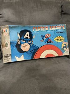 Captain America Board Game 1966 MB Unpunched Cards Without Comic & Box Damage
