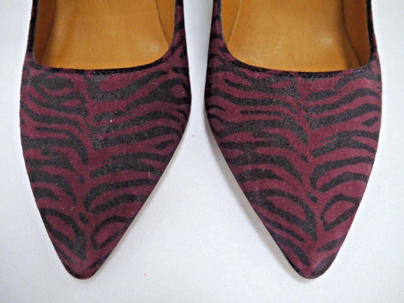 NEW ISABEL MARANT MARANT MARANT GATSY zebra suede heels shoes size 40 dd8ea6
