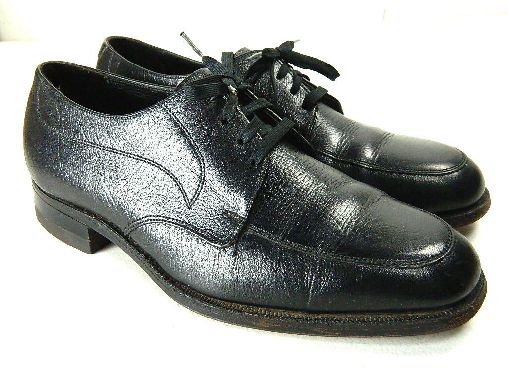 Florsheim Mens Size 6.5 Black Leather Apron Toe Oxfords Flexible Fiber Insole