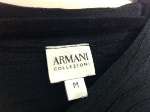 cotton Silk Cost Top £280 Black Collezioni Vgc Armani Uk Authentic M CPtEq4n