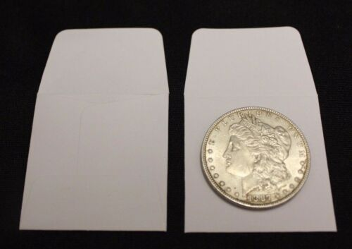 100 2x2 Silver Dollar White Paper Coin Holder Envelope GUARDHOUSE Acid Free Case