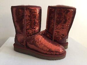 ugg classic short sparkles cinnamon bark boots us 7 eu 38 uk 5 5 rh ebay com