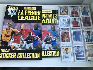 RARE-Complete-Merlin-Premier-league-2001-sticker-set-amp-empty-album-with-binder