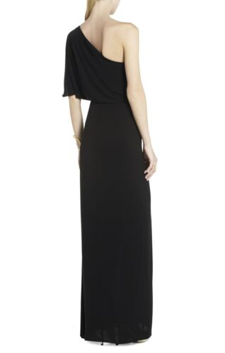 fa59e329da ... New Bcbg Maxazria Black Kendal Oneshoulder Ruffled Gown Wqr6R660 l6A  Size 0