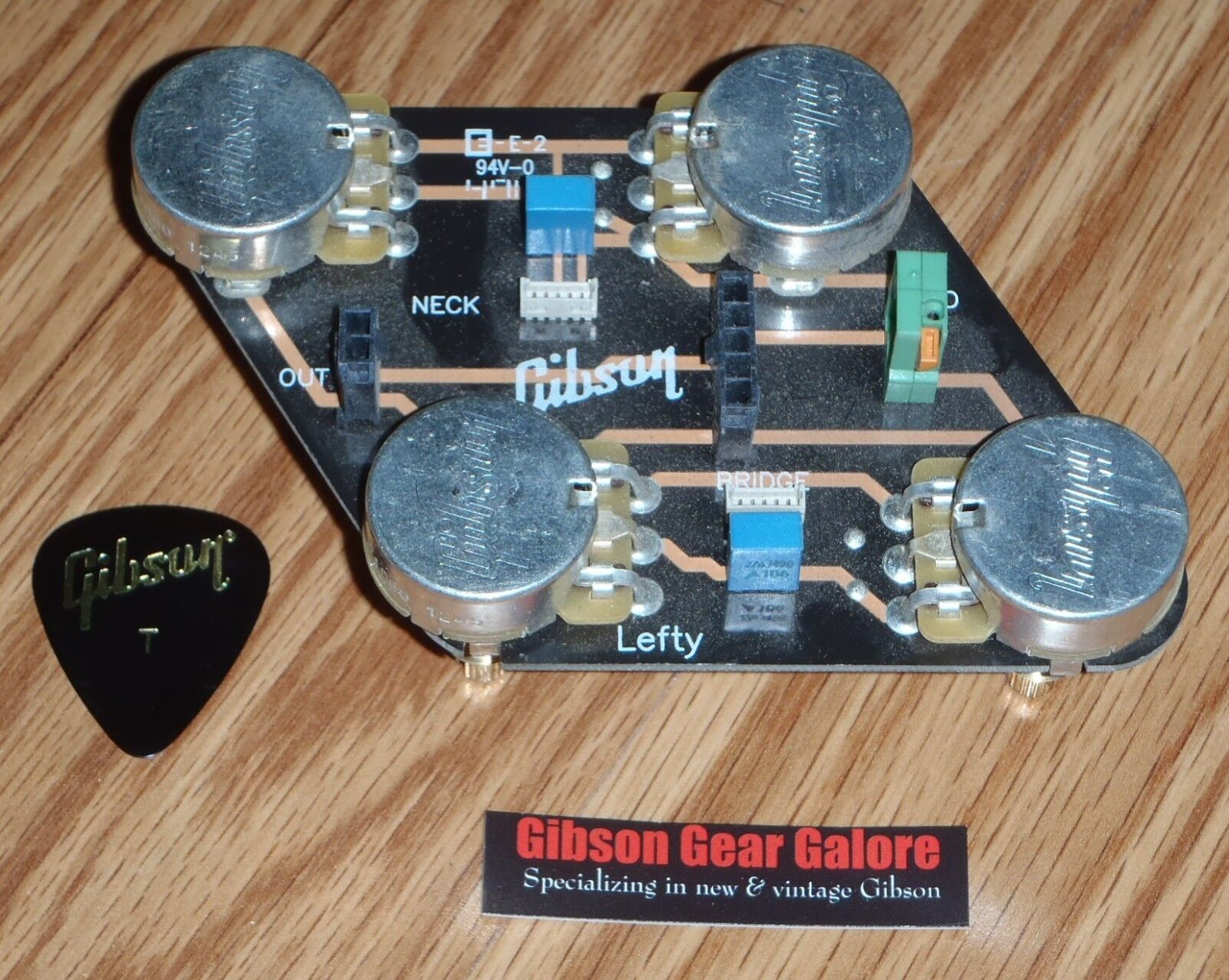 Gibson Les Paul Standard Lefty CTS Pot Control Board Guitar Parts Quick Connect