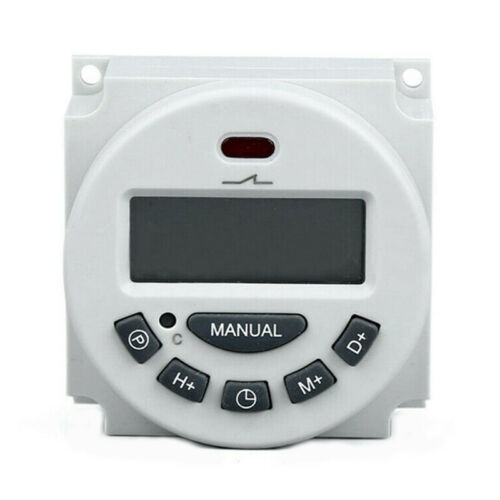 Digital LCD Relay Switch Weekly Programmable Electronic Time Timer 12V//110V//2 MR