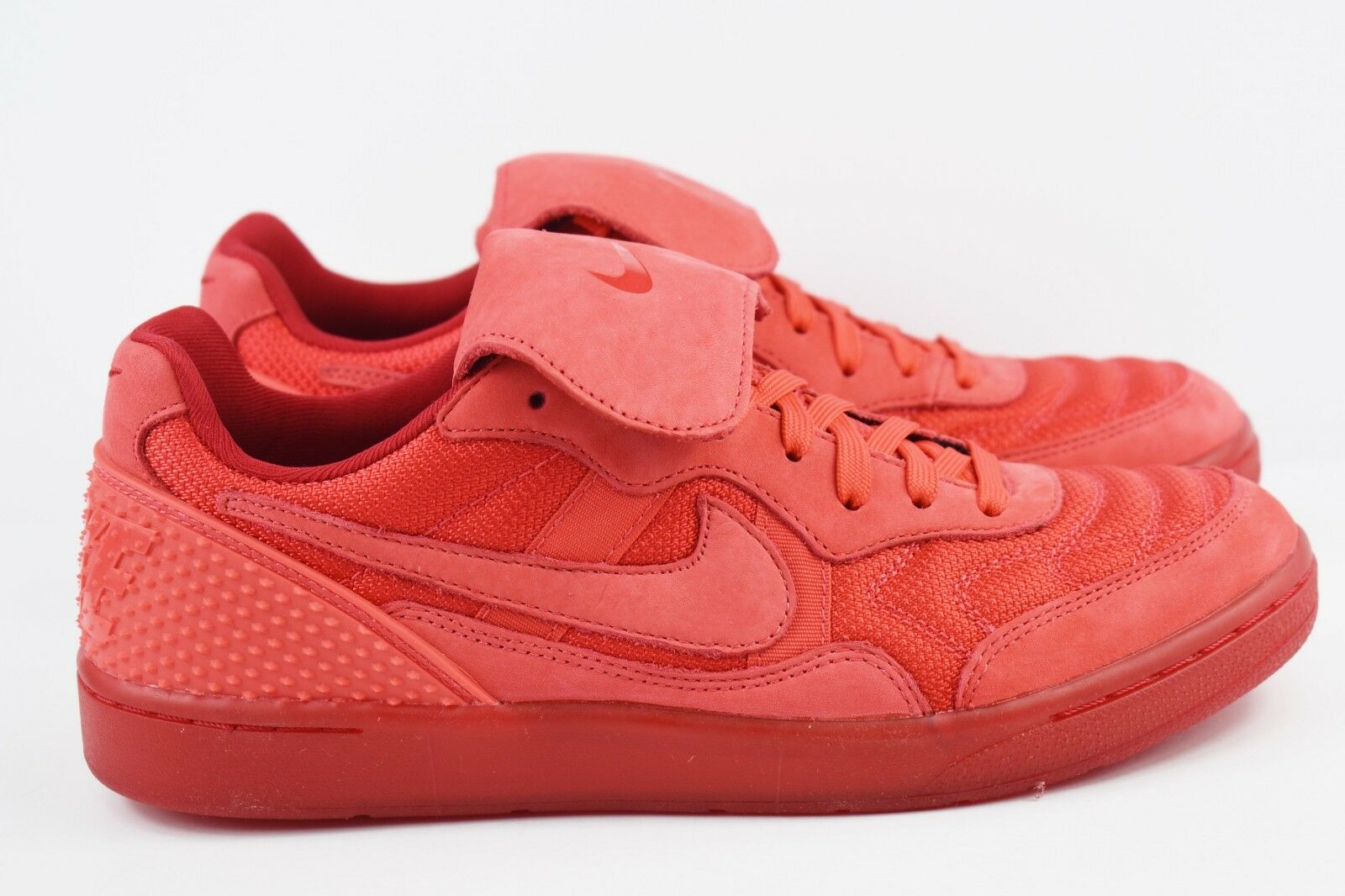 Nike NSW Tiempo 94 DLX QS Mens Size 9.5 Red Indoor Soccer Shoes 779519 600 Rare