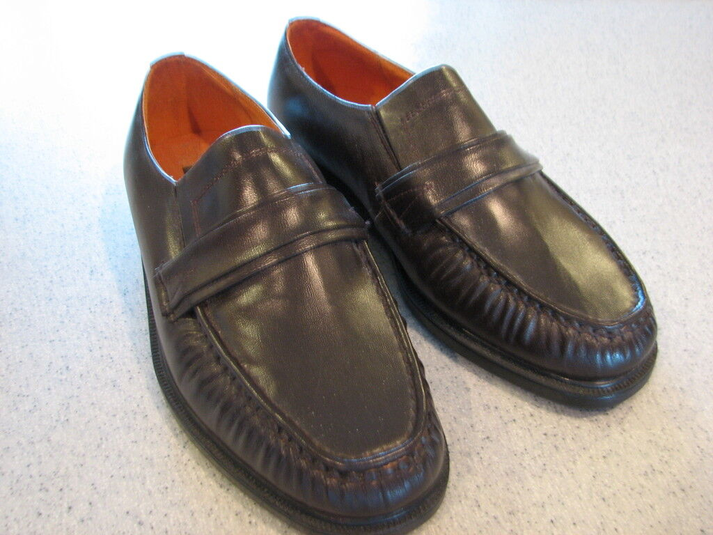 HABAND LOAFERS EXECUTIVE DIVISION BROWN LEATHER LOAFERS HABAND  9.5 D 30bbed