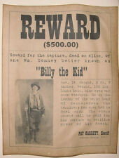 Billy the Kid Wanted Poster, Western, Outlaw, Old West
