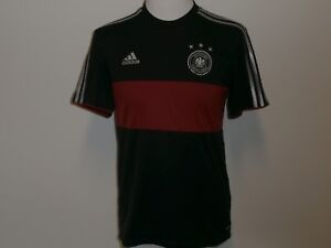 81f0c744eab55e GERMANY NATIONAL TEAM SHORT-SLEEVE RED & BLACK SOCCER JERSEY ADIDAS ...