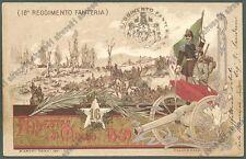 PAVIA PALESTRO 14 - 16° REGGIMENTO FANTERIA Cartolina MILITARE REGGIMENTALE 1903