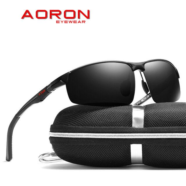2019 HD Herren Sonnenbrille Polarisiert Metal 100/% UV 400 Pilotenbrille Schwarz