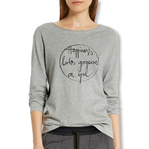 Marc O'Polo Damen Pyjama Oberteil T-Shirt langarm Long Sleeve S M L XL