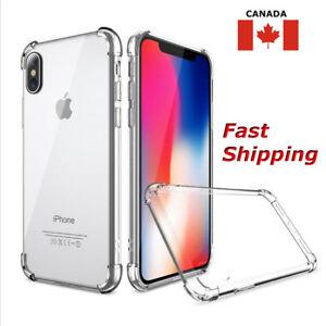 Clear Case Hybrid Slim Shockproof Soft TPU Bumper Cover For Apple iPhone Models
