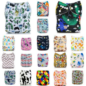 Diapers-Reusable-Nappy-Size-ALVA-Insert-4-layers-One-Cloth-1-Pocket-Baby-Bamboo
